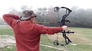 Derniers tirs de préparation avant un Safari au Buffle (arc compound Hoyt 80 livres)